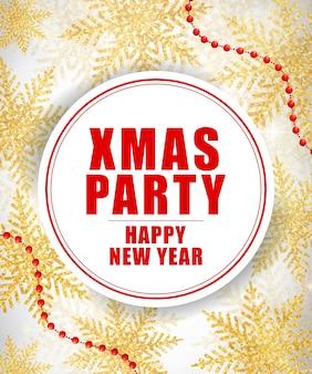 Festa di natale e felice anno nuovo lettering