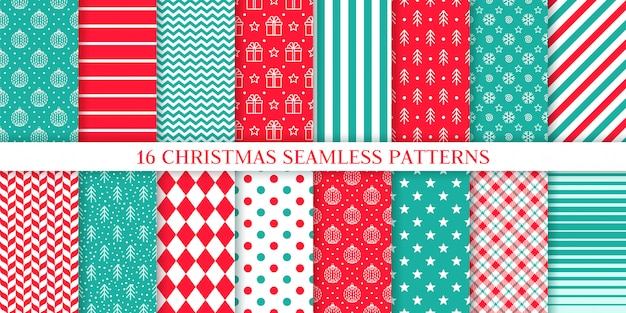 Xmas seamless pattern.