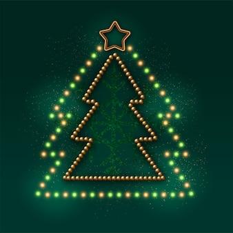 クリスマスツリーの装飾とガーランド