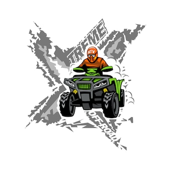 Xtreme atv off-road quad bike.