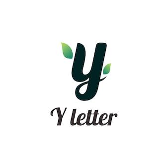 Y 문자 로고 다채로운 로고 그라데이션 개요
