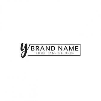 Y letter logo template