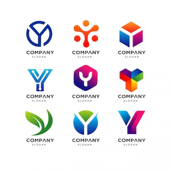 手紙yロゴデザインテンプレート