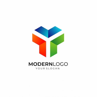 Современная буква y шаблон логотипа