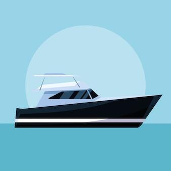 Yacht boat cartoon