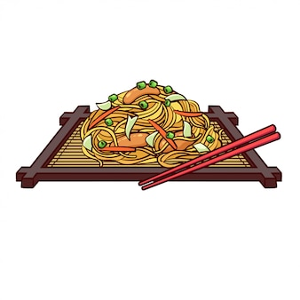 Yakisoba is a typical food from japan