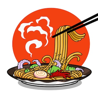 Yakisoba tasty japanese food