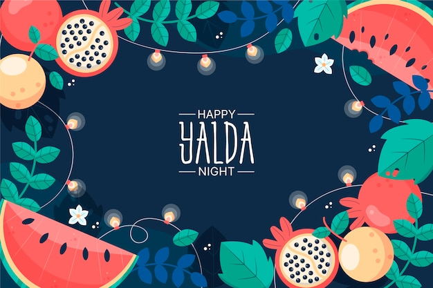 Yalda background with fruit