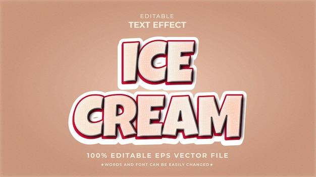 Редактируемый текстовый шаблон стиля yammy ice cream
