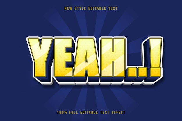 Yeah editable text effect comic style