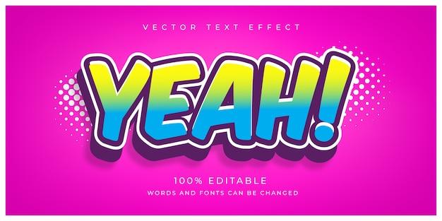 Yeah editable text effect