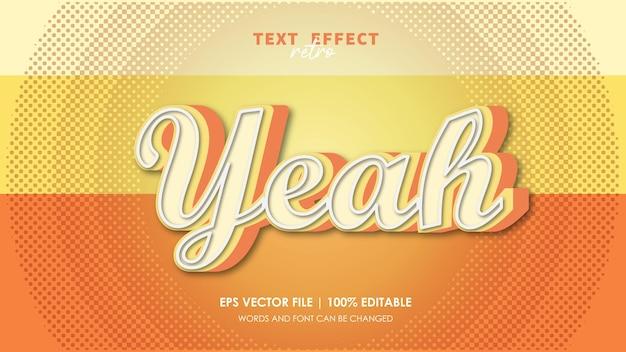Да, ретро текстовый эффект редактируемый