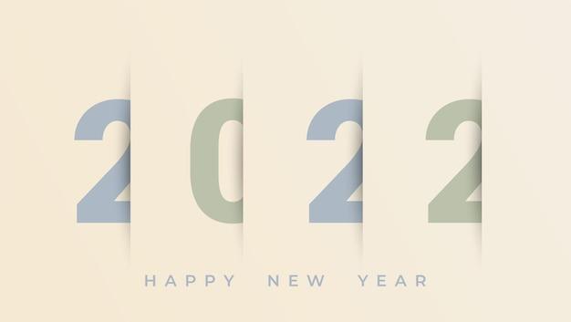 The year 2022 displayed elegant celebration background