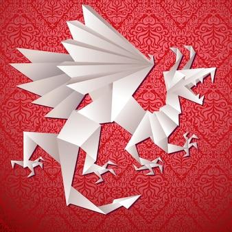 Year dragon, vector illustration