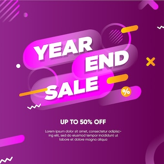 Year end sale banner template
