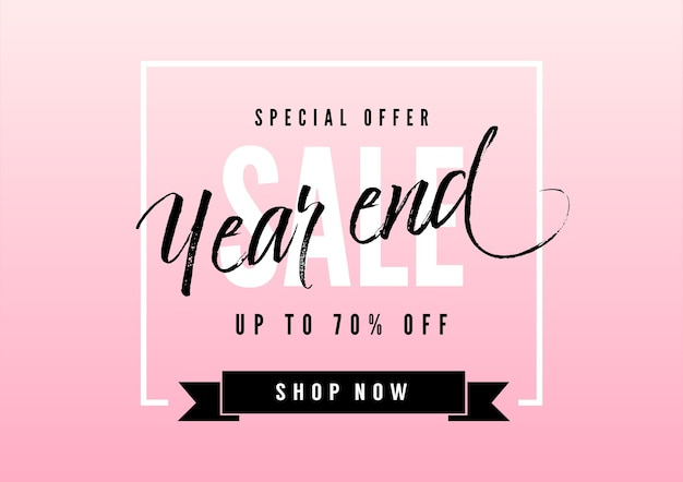 Year end sale banner
