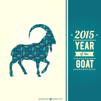 Year of the goat with pattern