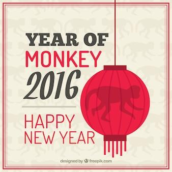 Year of monkey 2016 illustration