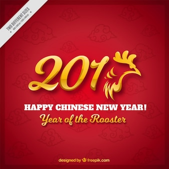 Year of the rooster background with golden details