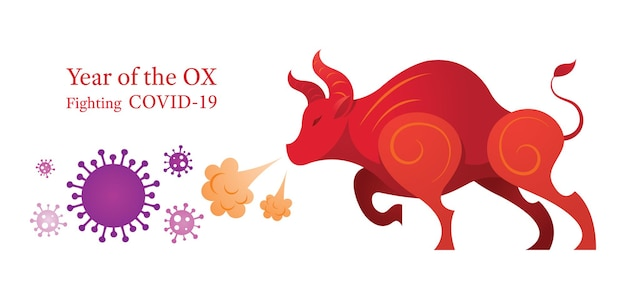 Year of the ox, fighting with covid-19