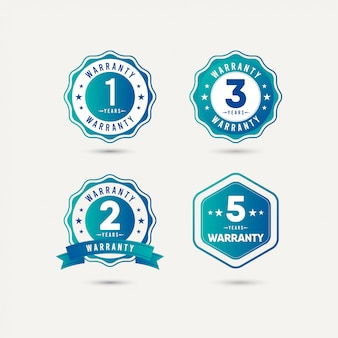 Year warranty logo icon template design illustration