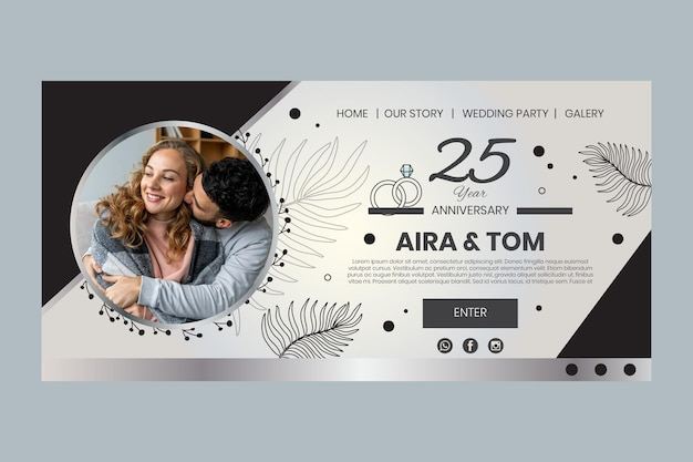 Years of marriage anniversary landing page