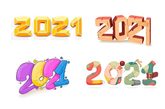 Years shape, rag, wooden, gold, cartoon.