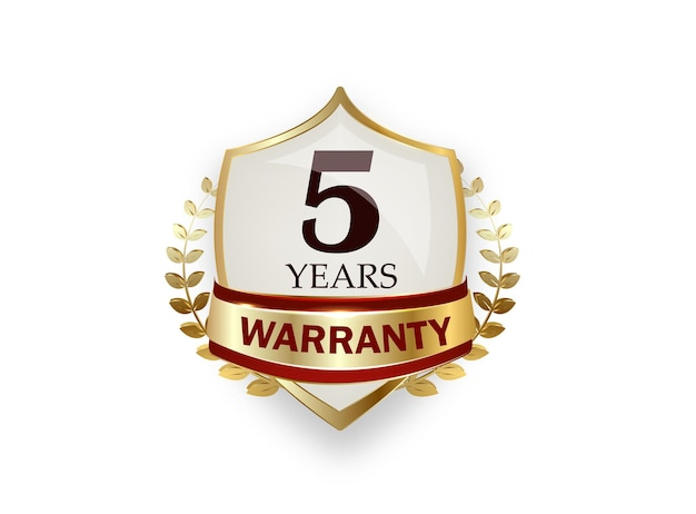 Years warranty shield on a white background
