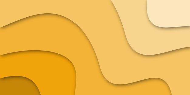 노란색 3d 추상적 인 배경