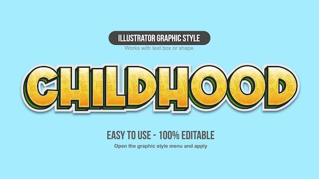 Yellow 3d cartoon text effect