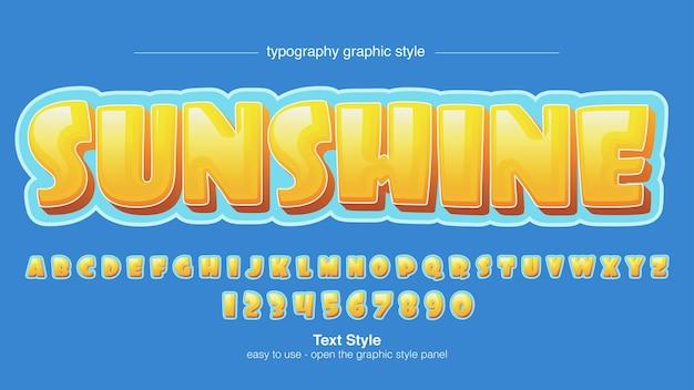 Yellow 3d cartoon typography