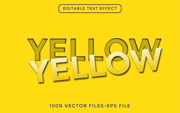 Yellow 3d editable vector text effect free vector