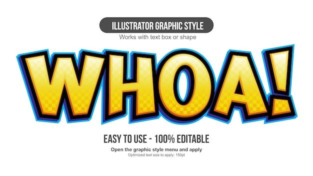 노란색 3d 팬톤 만화 만화 편집 가능한 텍스트 효과