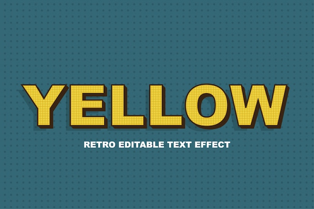 Yellow 3d text effect style