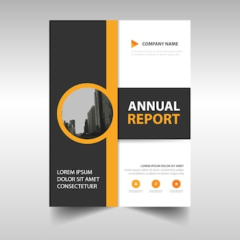 Yellow abstract annual report template