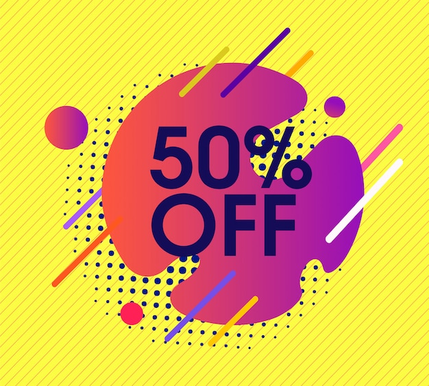 Yellow abstract background with special offer discount