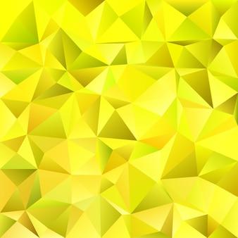 黄色の抽象的な混沌とした三角形のパターンの背景 - モザイクベクトル設計