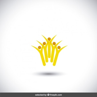黄色の抽象画チャリティーロゴ