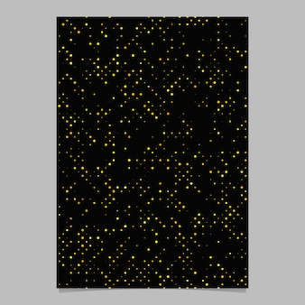 Yellow abstract circle pattern brochure background