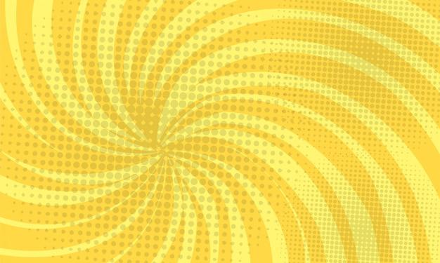 黄色の抽象的なコミックポップな背景