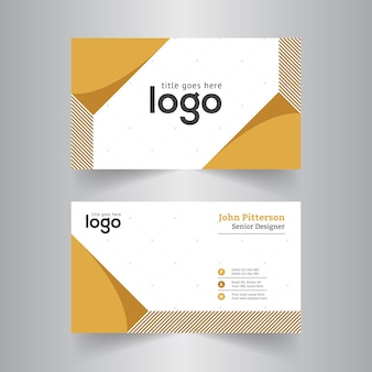 Yellow Abstract Corporate Business Card for Office