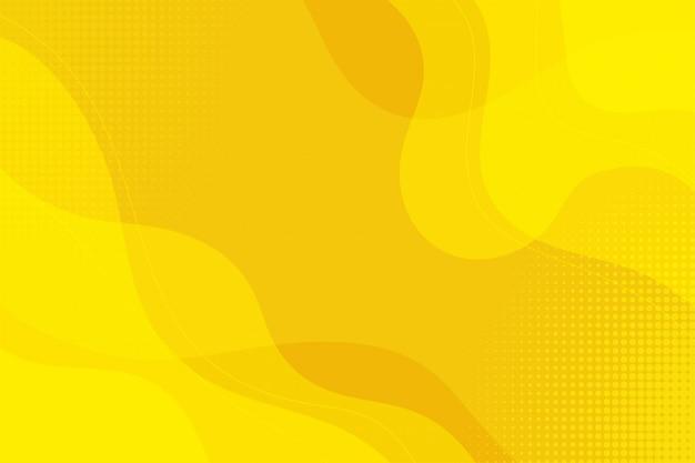 黄色の抽象的な流体の背景
