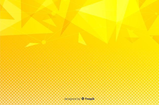 Yellow abstract geometric shapes background