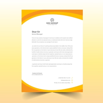 Yellow abstract letter head design