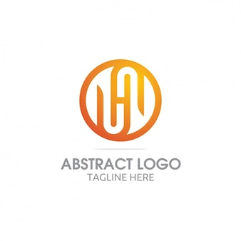 Yellow abstract logo
