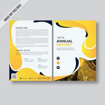 Yellow abstract modern style flyer design template