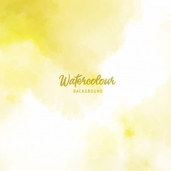 Yellow abstract splash paint background with watercolor texture