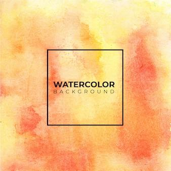 テクスチャ背景の黄色の抽象的な水彩画の背景