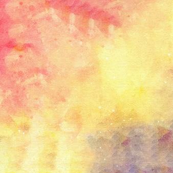 노란색 추상 수채화 배경