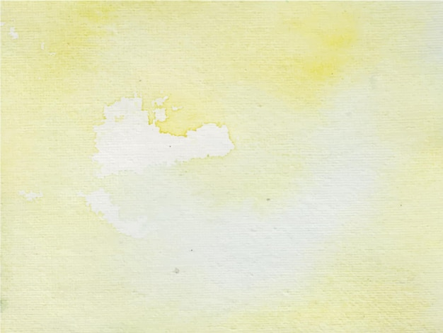 黄色の抽象的な水彩画の背景。